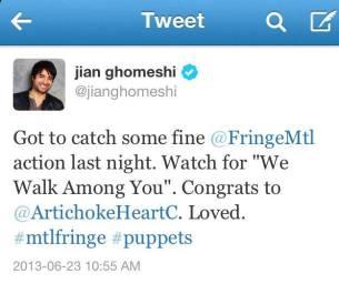 Jian Ghomeshi tweet